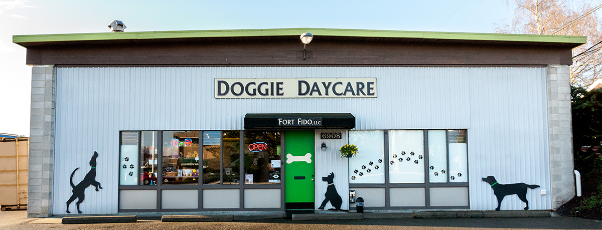 Fort Fido Dog Daycare and Boarding is located in Universtiy Place, near Fircrest, Tacoma, Gig Harbor, and Lakewood.